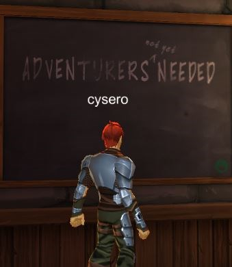 AQW3D Adventurers Not Yet Needed