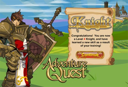 Knight Class in online dragon game AdventureQuest
